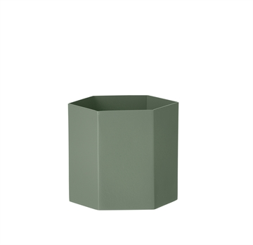 Ferm Living Hexagon Pot i dusty green