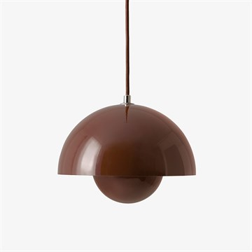 &Tradition VP1 Flowerpot Pendel i Red Brown
