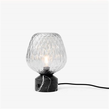 &Tradition Blown Bordlampe SW6 Silver Lustre Black Marble