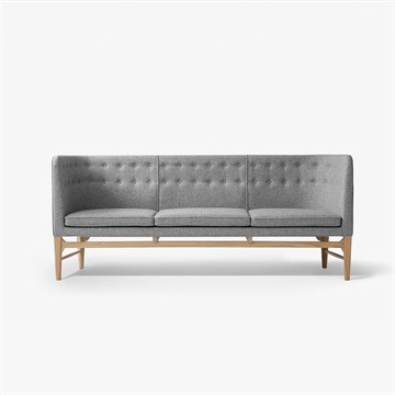 Arne Jacobsen Mayor sofa AJ5 i grå hallingdal stof fra Andtradition