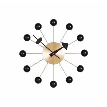 Vitra Ball Clock Ur Sort og Messing