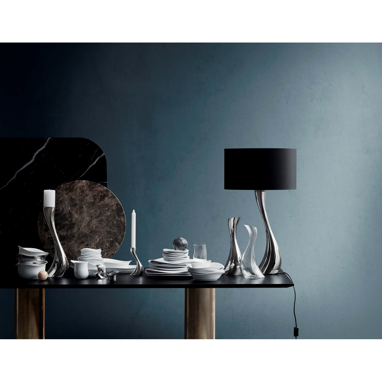 Georg Jensen Cobra Lampe med sort skærm str. medium