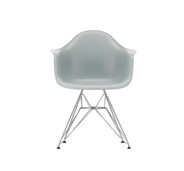 Eames DAR stol Light grey - krom stel