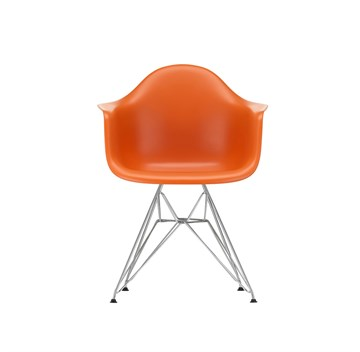 Eames DAR stol Rusty Orange - krom stel
