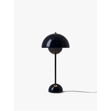 Verner Panton Flowerpot VP3 Bordlampe Black Blue
