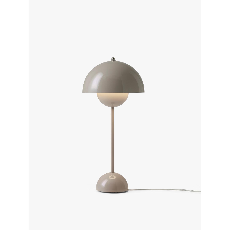 bordlampe verner panton flowerpot vp3 i gr beige k b. Black Bedroom Furniture Sets. Home Design Ideas