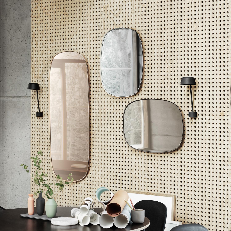 Framed spejl i rose fra muuto str. l   køb interiør her