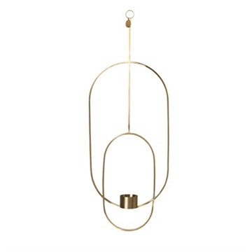 Ferm living - Hanging Tealight Deco - Oval -Messing
