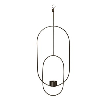 Ferm living - Hanging Tealight Deco-Oval -Sort