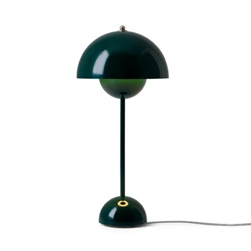 Verner Panton Flowerpot VP3 Bordlampe - Dark Green