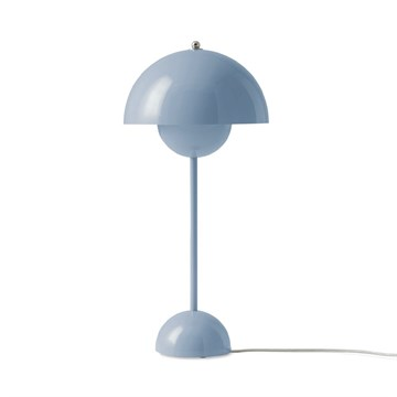 Verner Panton Flowerpot VP3 Bordlampe - Light Blue
