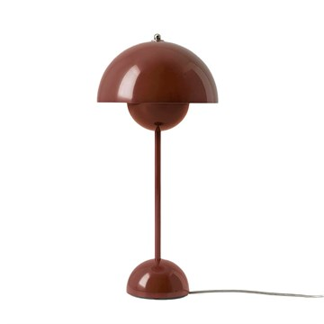 Verner Panton Flowerpot VP3 Bordlampe - Red Brown