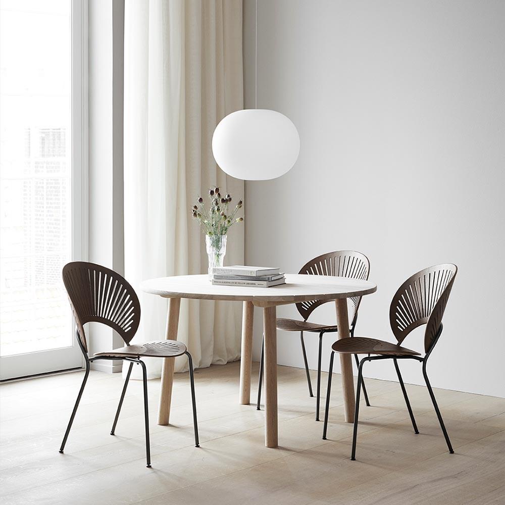 Fredericia Furniture Trinidad Stol - Røget Eg m/Flint Stel