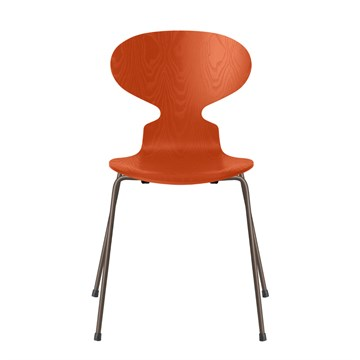 Fritz Hansen 3101 Myren Farvet Ask Brown Bronze Stel Paradise orange 575