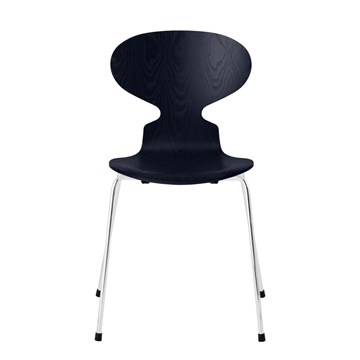 Fritz Hansen 3101 Myren Farvet Ask Krom Stel Midnight Blue