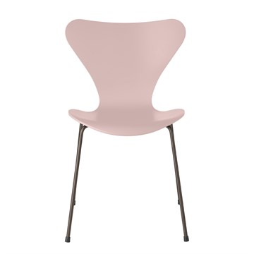 Fritz Hansen 3107 Lakeret 7'er stol Brown Bronze Pale Rose 610