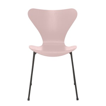 Fritz Hansen 7'er stol 3107 Farvet Ask Warm graphite stel Pale Rose
