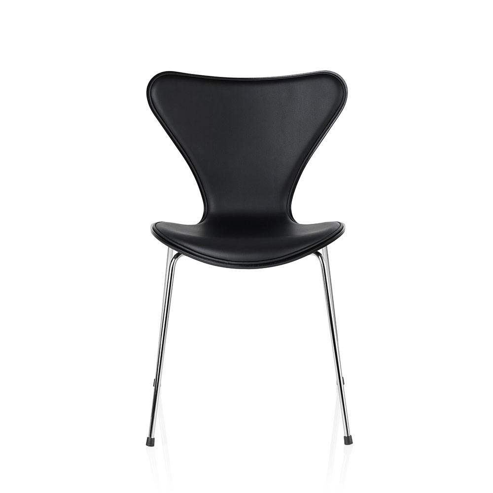 arne jacobsen 3107 stol i sort l der k b 7 er stolen. Black Bedroom Furniture Sets. Home Design Ideas