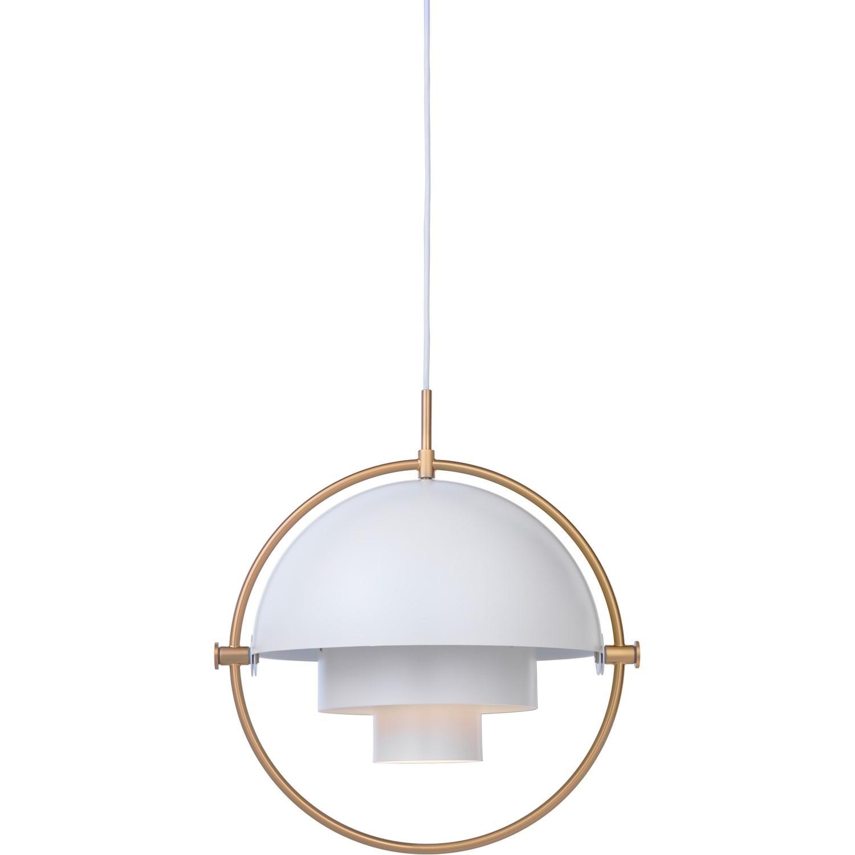 Gubi Lampe Multi Lite i messing og hvid Kob her