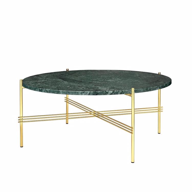 Gubi Ts Sofabord 216 80 Cm Messing Gr 248 N Marmor