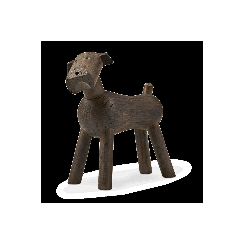 Stilig Kay Bojesen Hund Tim i mørk egetræ - Køb Træfiguren SM-72
