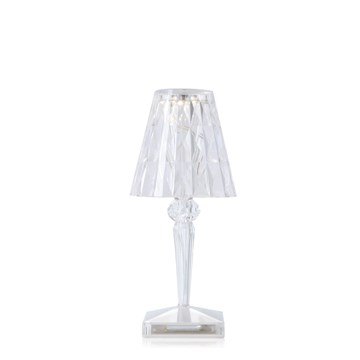 Kartell Battery Bordlampe Transparent crystal