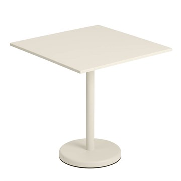 Muuto Cafe Havebord Linear Steel 70x70 Off White