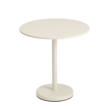 Muuto Cafe Havebord Linear Steel Ø70 Off White