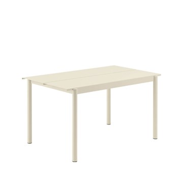Muuto Havebord Linear Steel 140x75 cm Off White