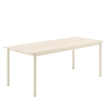 Muuto Havebord Linear Steel 200x75 cm Off White