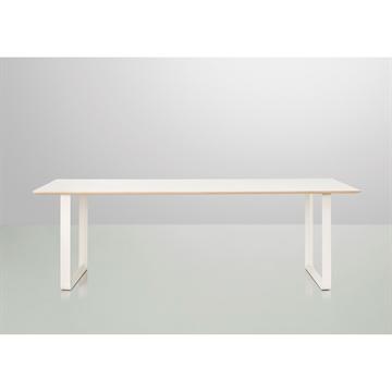 Kant spisebord hvid laminat sort stel