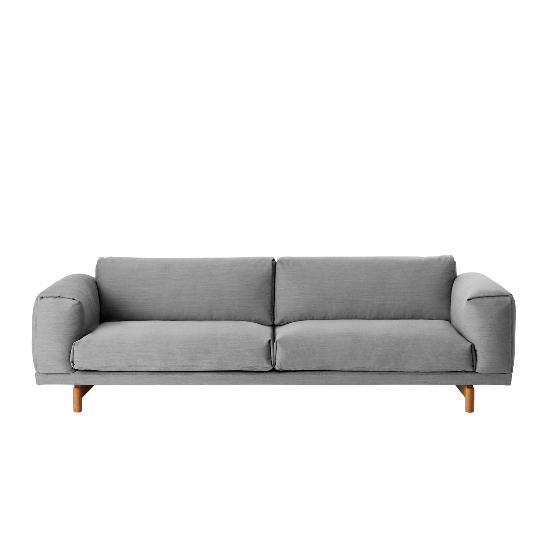 muuto rest sofa 3 personer gr. Black Bedroom Furniture Sets. Home Design Ideas