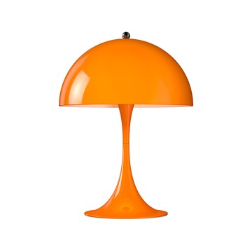 Verner Panton Panthella mini bordlampe i orange fra Louis Poulsen