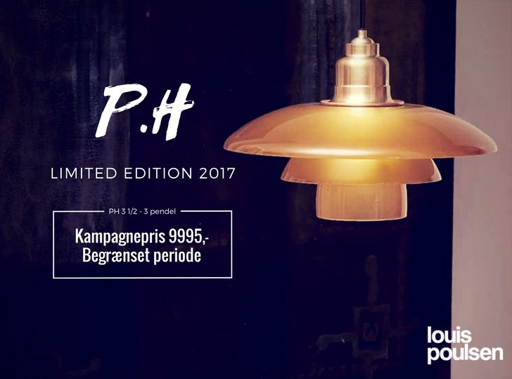 PH pendel limited edition 2017 fra Louis Poulsen