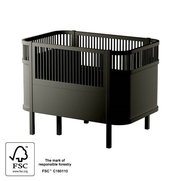 Sebra Baby og Junior Seng Black Edition Sort