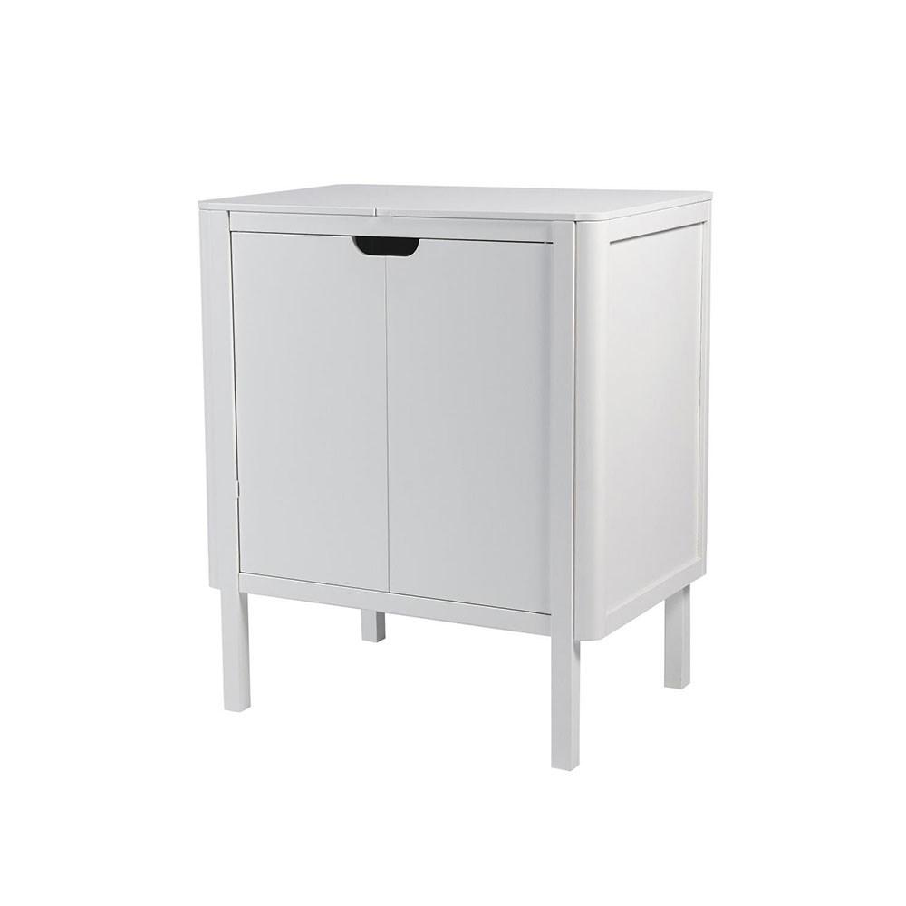 Kommode lang simple space kommode skuffer hvid with for Kommode lang