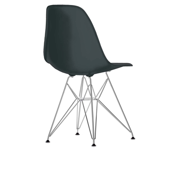 Eames DSR stol Basic Dark/Sort - krom stel