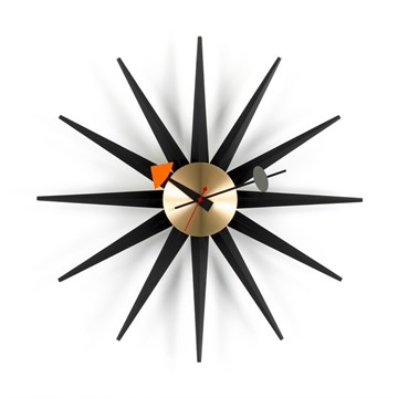 Vitra Sunburst Ur Sort og Messing