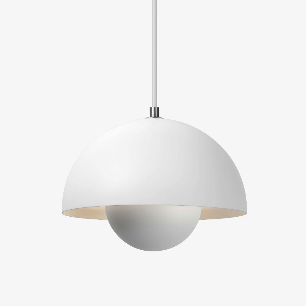 verner panton flowerpot vp1 pendel mat hvid. Black Bedroom Furniture Sets. Home Design Ideas