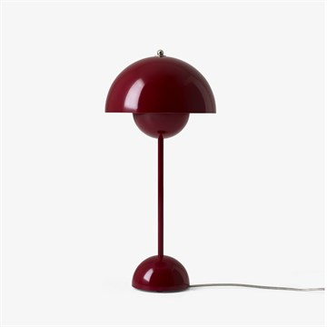 Verner Panton Flowerpot VP3 Bordlampe Deep Red