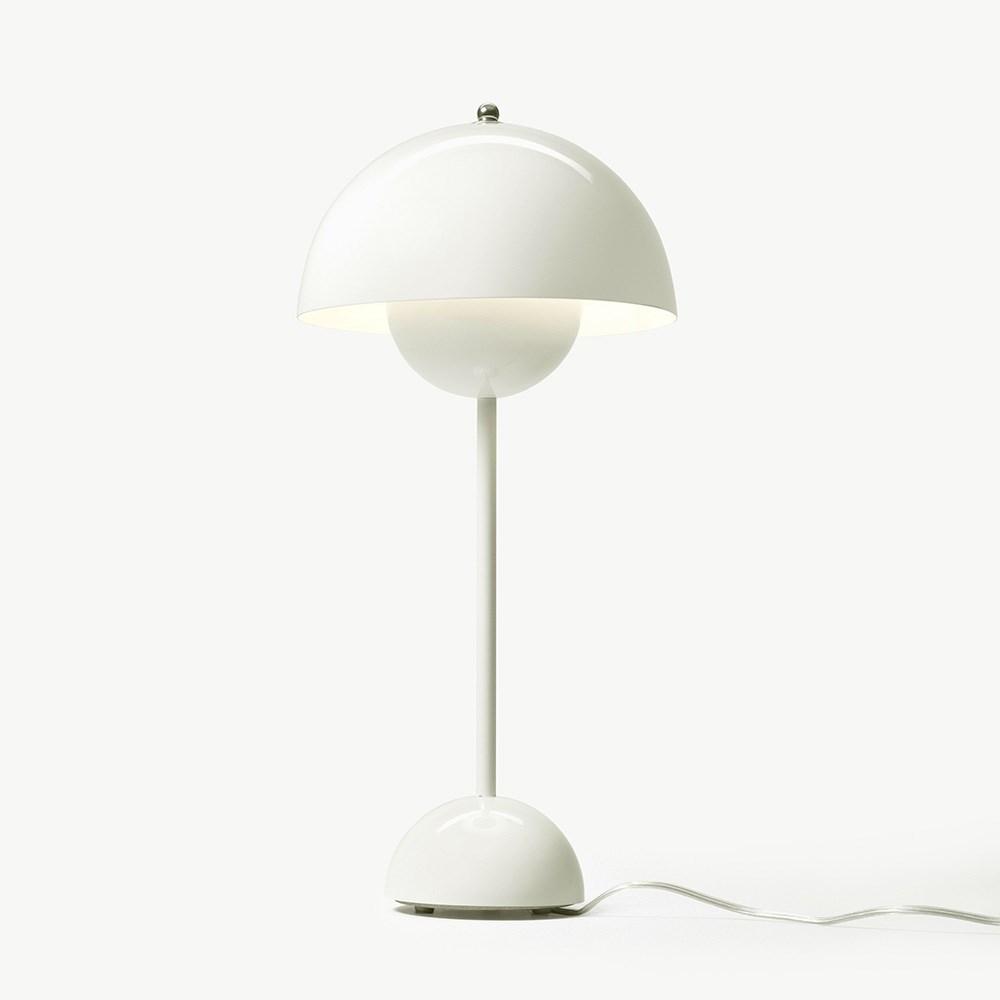 verner panton flowerpot vp3 bordlampe hvid. Black Bedroom Furniture Sets. Home Design Ideas