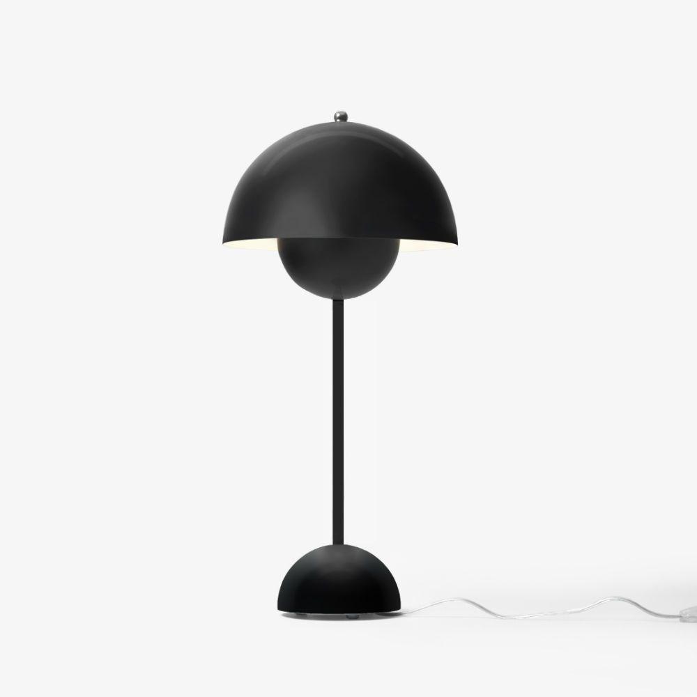 Verner Panton Flowerpot VP3 Bordlampe Mat Sort Kob på Tilbud