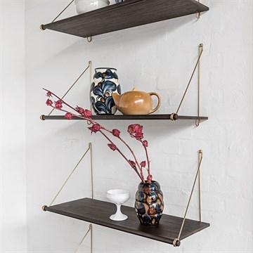 we do wood loop hylde m rk messing oph ng. Black Bedroom Furniture Sets. Home Design Ideas
