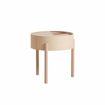 Woud Arc Side table i ask Ø45