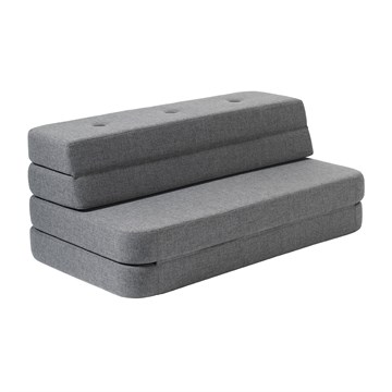 by KlipKlap KK 3 fold sofa XL Soft blågrå