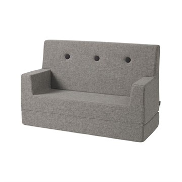 by KlipKlap KK Kids Sofa Multigrå med grå